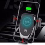 Оригинал 10W Qi Беспроводное зарядное устройство Gravity Air Vent Dashboard Авто Держатель для телефона Авто Крепление для 4.0-6.5 дюймов Смартфон