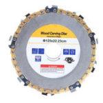 Оригинал Drillpro Gold 5 дюймов Диск с цепью для мясорубки 9-зубной резьба по дереву для 125-угольной шлифовальной машины