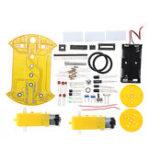 Оригинал DIY D2-2 Smart Tracking Авто Набор 51 Однокристальный линейный Авто AT89C2051 Патруль Авто Набор
