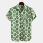 Оригинал Мужские летние дышащие рубашки с авокадо
