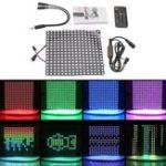 Оригинал 16 * 16 см WS2812 256 пикселей цифровая матрица LED модуль Strip + 13 ключей Дистанционное Управление + контроллер постоянного тока DC5V