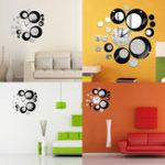 Оригинал Creative DIY 3D Зеркало Стены Акриловые Часы Стикер Уникальный Большой Номер Современные Украшения