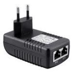 Оригинал ЕС Plug CCTV Security 48 В 0.5A 24 Вт POE Стенная Вилка POE Инжектор Ethernet Адаптер IP камера Телефон PoE Питания