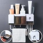 Оригинал 2/4 чашки автоматический дозатор зубной пасты настенный держатель зубной щетки Полотенце держатель