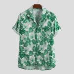 Оригинал Mens Summer с цветочным принтом сундук с коротким рукавом Повседневная