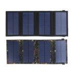 Оригинал 5,5 В 9,6 Вт Солнечная Зарядное устройство Солнечная Панельное зарядное устройство Водонепроницаемы Складные двойные порты USB Солнечная Бат