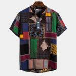Оригинал Рубашки с короткими рукавами и принтом Mosaic Шаблон
