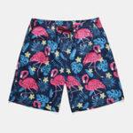 Оригинал Мужские шорты Flamingo с принтом гавайские повседневные Пляжный