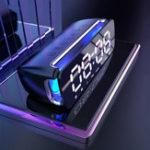 Оригинал LEORY T68 Динамик сабвуфера LED Беспроводная стереогарнитура Bluetooth Двойной громкоговоритель с поддержкой микрофона Сигнализация Часы FM Радио
