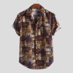 Оригинал Мужские летние рубашки с коротким рукавом из 100% хлопка
