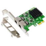 Оригинал SSU 8120-T2 2 порта 1000 Мбит / с Gigabit Ethernet Сетевая карта PCI-E PCI Express RJ45 Плата расширения сетевого адаптера для настольных ПК