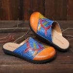Оригинал SOCOFY Handmade Натуральная Кожа Сплайс на плоской сандалии
