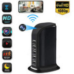 Оригинал 1080P Wireless Монитор камера Multi-USB Wifi Телефон Дистанционный Угол обзора 90 ° с 5 USB зарядным устройством