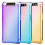 Оригинал Баки градиент цвета на воздушной подушке угловой противоударный Soft ТПУ защитный Чехол для Samsung Galaxy A80 2019