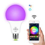 Оригинал 6,5 Вт E27 RGB + белый WIFI Smart Светодиодный Лампа Дистанционный Голосовое управление Лампа Работа с Alexa Google Home AC100-240V