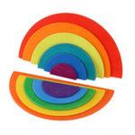 Оригинал 11шт развивающие деревянные радуги головоломки игровые блоки кирпичные игрушки для малыша