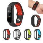 Оригинал Bakeey Силиконовый Pore Двухцветные часы из нержавеющей стали с пряжкой Стандарты для Xiaomi Mi Band 4 & 3 Smart Watch