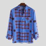 Оригинал Men Tribal Шаблон Рубашки с длинным рукавом с принтом