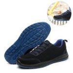 Оригинал Мужская защитная обувь Рабочая обувь Носки со стальным носком Антискользящие нескользящие спортивные кроссовки