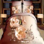 Оригинал 4 шт 3D цветок бабочка король постельные принадлежности наволочка пододеяльник пододеяльник наборы нового постельного белья