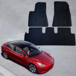 Оригинал Для Tesla Model 3 Авто Резиновый передний задний коврик Автоpet Set Водонепроницаемы Pad