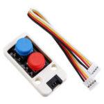 Оригинал M5Stack Mini Двойной кнопочный переключатель с кабелем порта GROVE Коннектор Совместим с FIRE / M5GO ESP32 Micropython Набор