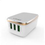 Оригинал LDNIO 3.4A 3USB Быстрая зарядка Зарядное устройство ЕС Адаптер для iPhone X XS HUAWEI P30 Oneplus 7 XAIOMI MI9 S10 S10+