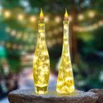 Оригинал 1X 6X 10X 12X Батарея Управляемый 2M 20 LED Бутылка Свеча Провод Строка Свет Фея Полоса Xmas Party Лампа