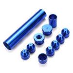 Оригинал Синий 5 / 8inch-24inch Топливный фильтр Набор Алюминий, Пригодный Для NAPA 4003 WIX 24003