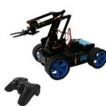Оригинал PI Master 'DIY 4WD Робот-манипулятор Smart Control RC Авто с беспроводной связью Палка, совместимый Arduino