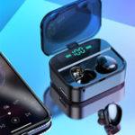 Оригинал Мини TWS Наушники Bluetooth 5.0 Наушник Три цифровых Дисплей Стерео Водонепроницаемы Громкая связь с аккумулятором 3600 мАч