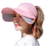 Оригинал Регулируемая Зонт UV Крышка Лица Мужчины Femal На открытом воздухе Путешествия Бег Лето Пляжный Wild Sun Шапка