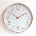 """Оригинал 12 """" Розовое Золото Стены Часы Non Ticking Glow Бесшумный Стены Часы Батарея Управляемый Кварц Круглый для Внутренней На открытом воздухе Гост"""
