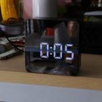 Оригинал DS-6613 Square HD Зеркальная сигнализация Часы Многофункциональная цифровая сигнализация Часы Mute LED Зеркало Часы Зеркало Макияж