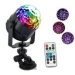 Оригинал 6 цветов USB DC5V 6W LED Волшебный Шариковый световой сигнал Звук активирован Дистанционное Управление Проектор Лампа для Авто Room Club DJ Disco