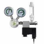 Оригинал LST100-01 220V G5/8 Регулятор CO2 для Аквариум Таблица декомпрессии CO2 Двойной манометр Счетчик пузырьков Соленоидный клапан Регулируемое давление