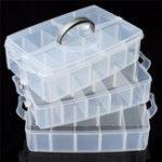 Оригинал 3-х слойное хранение Чехол Съемная пластиковая косметика Инструмент Коробка Держатель для ювелирных изделий Контейнер 30 Сетка