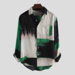 Оригинал Мужская летняя рубашка из 100% хлопка с карманами DYyeing Shirts