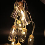 Оригинал 1.5M Батарея Powered 10 LED Желая Бутылка Fairy String Light на Рождество Сад Свадебное Партия Украшения