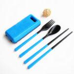 Оригинал Xmund XD-LG2 3 шт. ABS Вилка, ложка, палочки для еды, Складная посуда Кемпинг Picnic Travel Портативные китайские наборы посуды