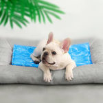 Оригинал Охлаждающий коврик для любимчика от Xiaomi Youpin Водная рябь Синий Продолжительное рассеивание тепла Водонепроницаемы Кот Собака Pad