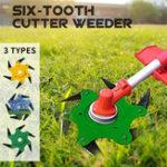 Оригинал Обновленная Трава Триммер Головка 6 Зубья Лезвие Триммер Головка Щетка Нож для газонокосилки Зеленый Желтый
