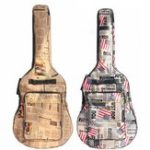 Оригинал 41 дюймов Водонепроницаемая ткань Оксфорд с двойной обивкой Ремни для гитары Сумка Переноска гитары Чехол