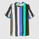 Оригинал Мужская мода Colorful Рубашки в полоску с принтом