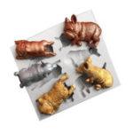 Оригинал 3D Модели Животных Силиконовый Fondant Шоколадный Торт Плесень Выпечки Плесень Сахар Craft
