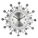 Оригинал 35 СМ Современная Алмазная Акриловая Стена Часы Цифровая Комната Искусство Круглый Дом Роскошный Декор