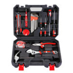 Оригинал 20Pcs Repair Hand Инструмент Set Home Бытовая Набор с Отвертка Гаечный ключ Hammer Лента Провод Резак и Коробка