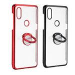 Оригинал Bakeey Прозрачный Держатель Кольца Цвет Покрытие Против царапин Жесткий ПК Защитный Чехол Для Xiaomi Mi MIX 3