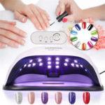 Оригинал 80 Вт Ногти Лампа UV Светодиодный Профессиональный Ногти Сушилка Гель Машинное отверждение