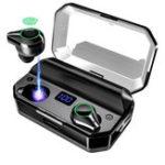 Оригинал TWS Wireless Bluetooth 5.0 Наушник 7000mAh Power Bank Type-C Micro USB Charge LED Дисплей Smart Touch IPX7 Водонепроницаемы Наушники с микрофоном